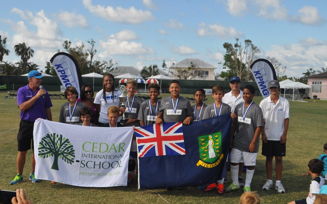 Cedar Boys Champions of International Football Tournament in Bahamas