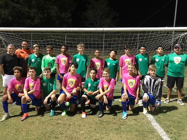 U13s Caribbean Alliance Against Florida Team